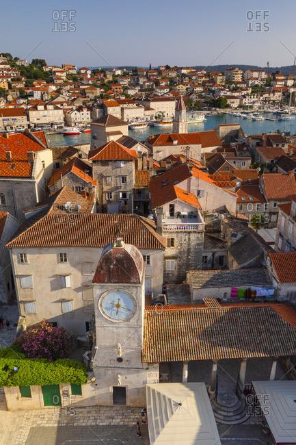 Croatia - June 10, 2019: Elevated View Over  Trogir, Trogir, Dalmatian Coast, Croatia, Europe
