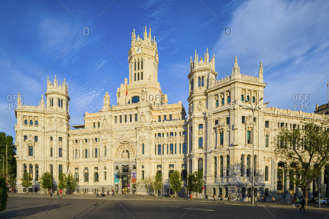 Spain - April 29, 2019: Cybele Palace, Madrid, Spain