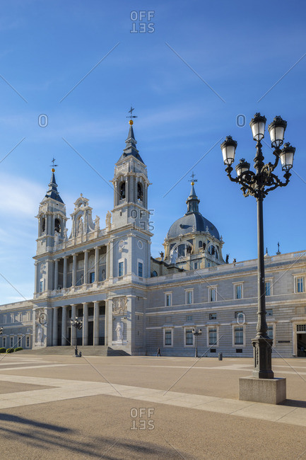 Exterior of Almudena Cathedral, Madrid, Spain