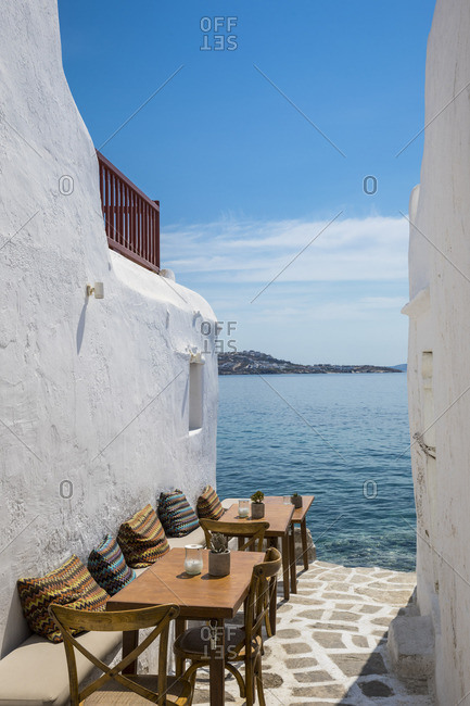 Little Venice, Mykonos Town, Mykonos, Cyclade Islands, Greece