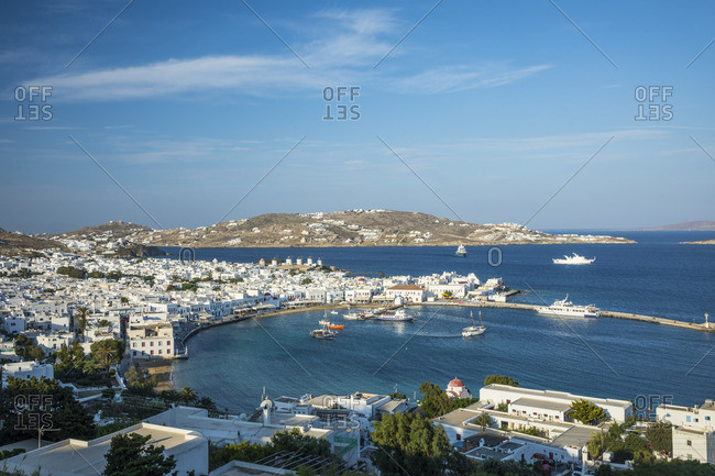 Harbor in Mykonos Town, Mykonos, Cyclade Islands, Greece