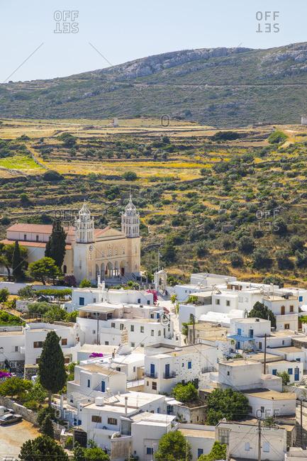 Greece - June 14, 2019: Lefkes Village, Paros, Cyclade Islands, Greece