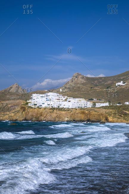 Greece - June 15, 2019: Naxos Town, Naxos, Cyclade Islands, Greece
