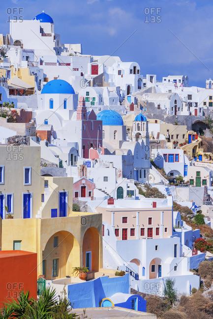 Greece - June 8, 2008: Oia village, Oia, Santorini, Cyclades Islands, Greece
