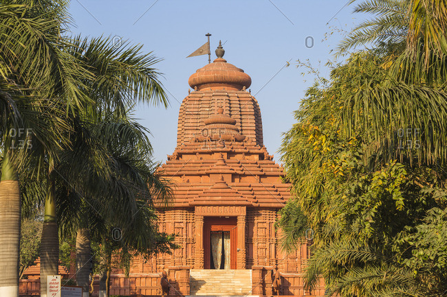 India - February 25, 2019: India, Madhya Pradesh, Gwalior, Surya Mandir - Sun Temple, constructed in the shape of a chariot