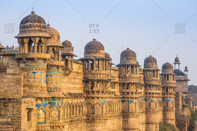 India, Madhya Pradesh, Gwalior, Gwalior Fort, Man Singh Palace