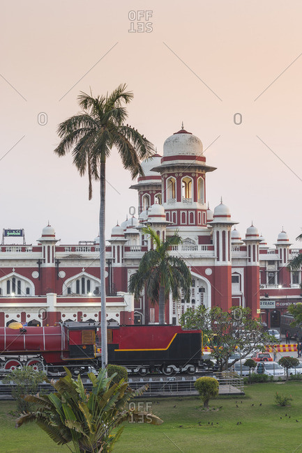 India - February 11, 2019: India, Uttar Pradesh, Lucknow, Charbagh, Lucknow Railway station