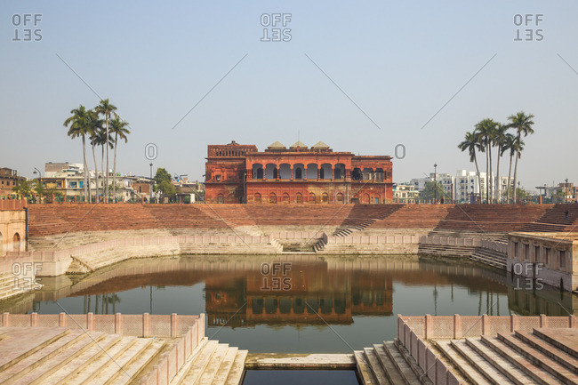 India, Uttar Pradesh, Lucknow, Hussainabad Pond and Picture Gallery