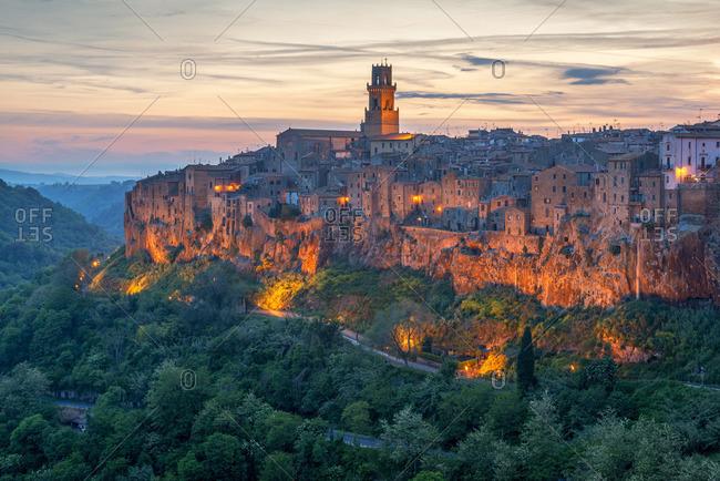 View at Pitigliano, Grosseto, Maremma, Tuscany, Italy