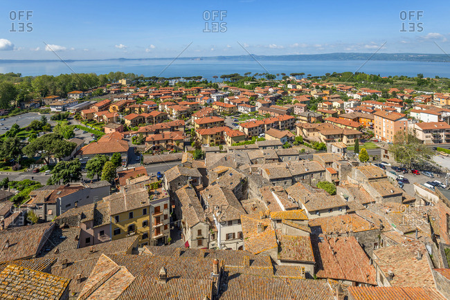 Italy - May 24, 2019: View form the castle at Bolsena, Viterbo, Lazio, Italy