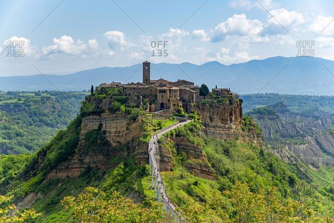 View At Civita Di Bagnoregio Viterbo Lazio Italy Stock Photo