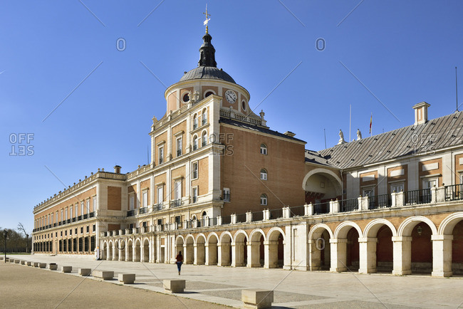 The Royal Palace of Aranjuez (Palacio Real de Aranjuez) is a former Spanish royal residence dating back to the 16th century. A Unesco World Heritage Site. Aranjuez, Spain