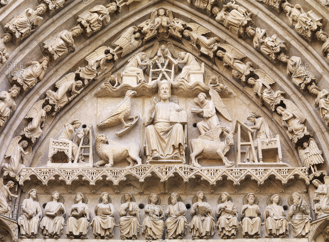 Spain, Castile and Leon, Burgos, detail of Saint Mary of Burgos, UNESCO World Heritage site