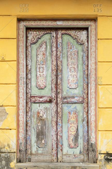 Door of villa, Galle, Southern Province, Sri Lanka