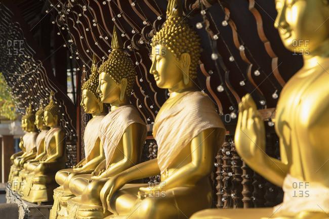 Statues at Seema Malakaya on Bere Lake, Colombo, Sri Lanka