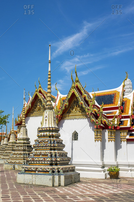 Stupas at Wat Pho (Temple of the Reclining Buddha), Bangkok, Thailand