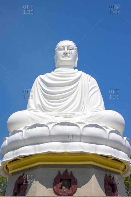 Giant Buddha at Long Son Pagoda (Chua Long Song) Buddhist temple, Nha Trang, Khanh Hoa Province, Vietnam