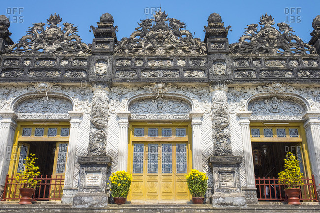 Tomb of Khai Dinh (Lang Khai Dinh), Hurong Thuy District, Thura Thien-Hue Province, Vietnam