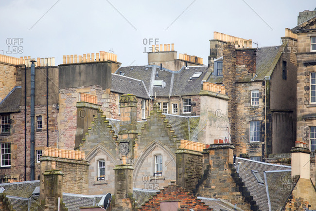 Rooftops of old town, Edinburgh, Scotland