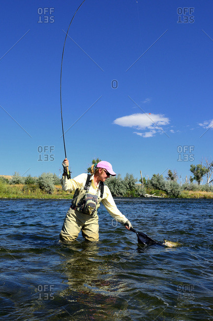 Angler Fly fishing