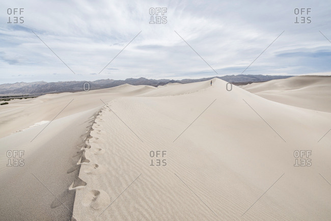 Clouds over Mesquite Flat Sand Dunes in Death Valley National Park, California, USA