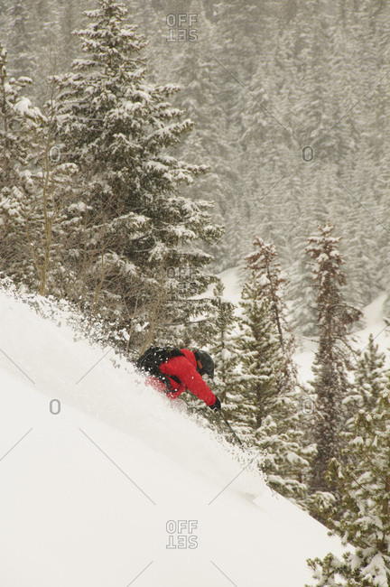 Scott Kennet skiing Colorado.