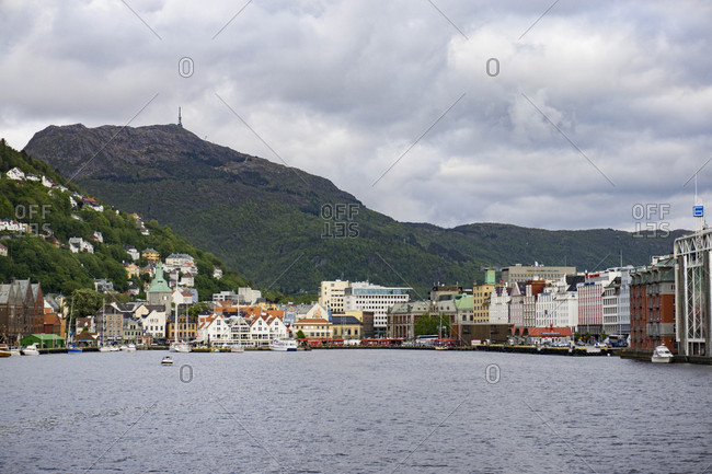 June 15th, 2015 - Arriving in Bergen Norway by ferry during a cloudy afternoon