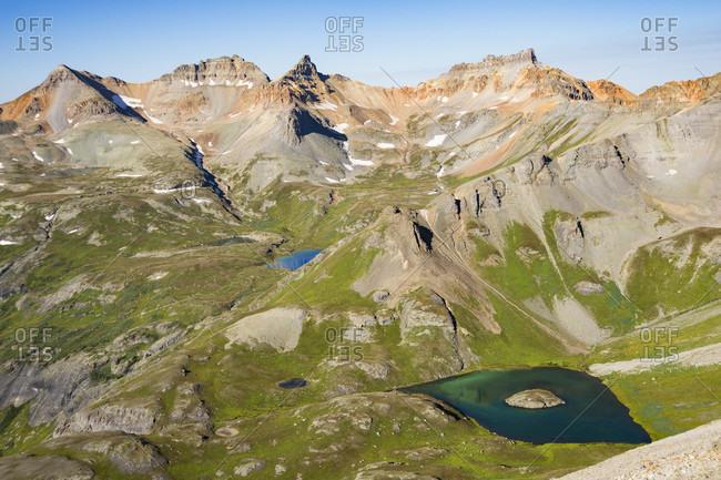 View of Ice Lake Basin near Silverton, Colorado, USA