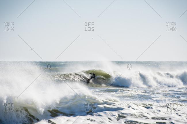 Winter Surfing In Narragansett, Rhode Island