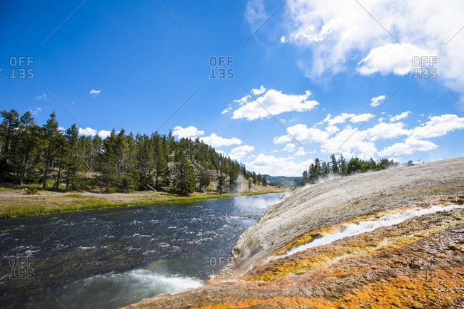 Midway Geyser Basin, Yellowstone National Park, Wyoming, USA
