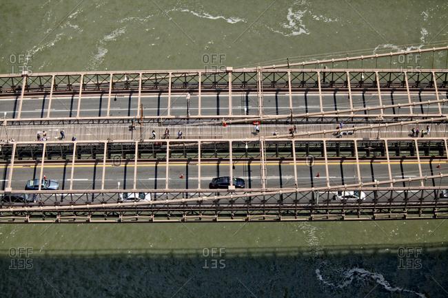 Bridge in Manhattan, New York City, New York, United States of America.