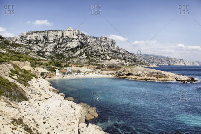 Aerial View Of The Calanque De Callelongue In Marseille, France