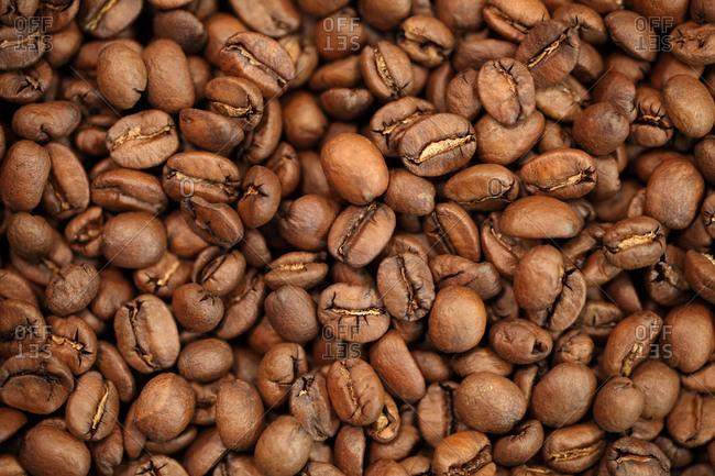 Roasted coffee beans, Oakland, California, USA