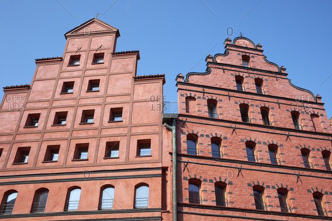 Germany- Mecklenburg-Western Pomerania- Stralsund- historic old town- representative facades