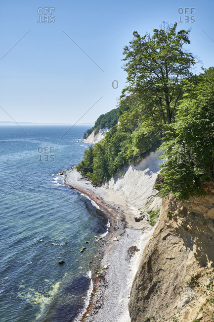 Germany- Mecklenburg-Western Pomerania- Ruegen- Sassnitz- Jasmund National Park- chalk coast