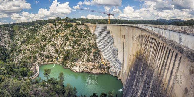 May 20, 2018: France- Provence-Alpes-Cote d'Azur- Beaurecueil- Bimont Dam