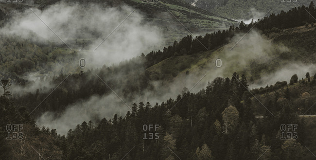 Panoramic detail of Pyrenees of France