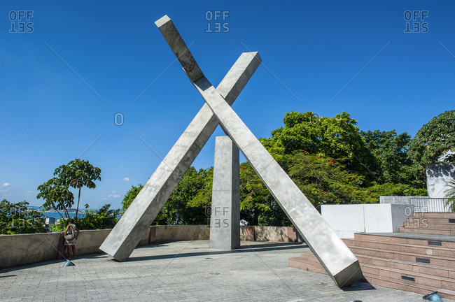 February 7, 2011: Christian cross- Pelourinho- Salvador da Bahia- Brazil