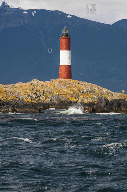 Lighthouse on an Island in the Beagle channel- Ushuaia- Tierra del Fuego- Argentina- South America