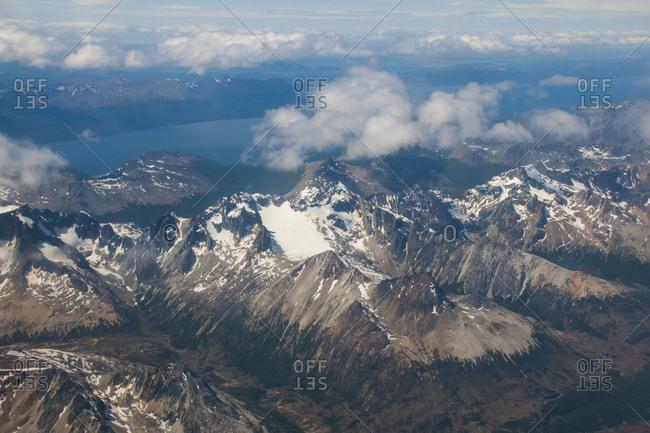 Aerial view of Tierra del Fuego- Argentina- South America