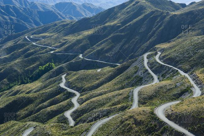 Serpentine- mountain road near Mendoza- Argentina- South America