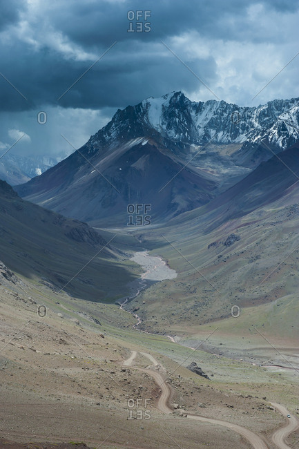 Mountain pass near Mendoza- Andes- Argentina- South America