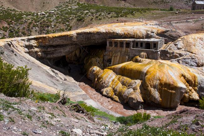 Inca Bridge near Mendoza- Argentina- South America