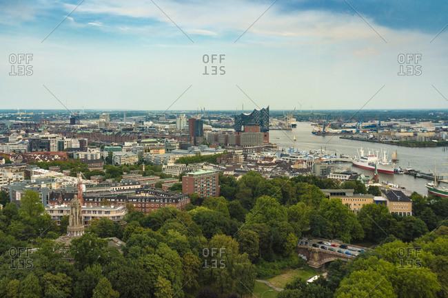 Cityscape with Elbphilharmonie- Hamburg- Germany