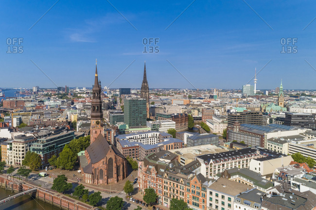 Cityscape with old town and new town- Hamburg- Germany