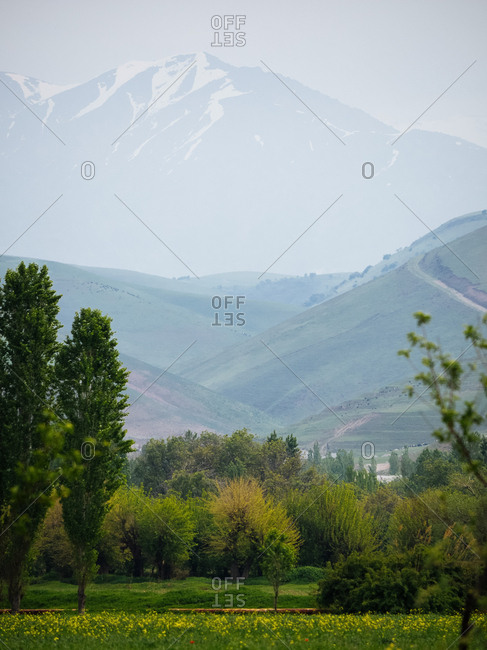 Beautiful mountain range in Uzbekistan