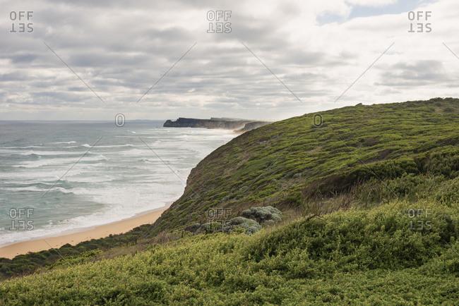 Green hills on the Victorian coastline