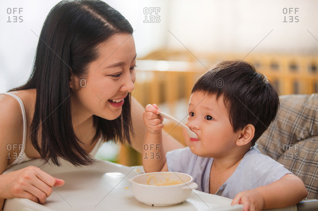 Mother to feed the baby