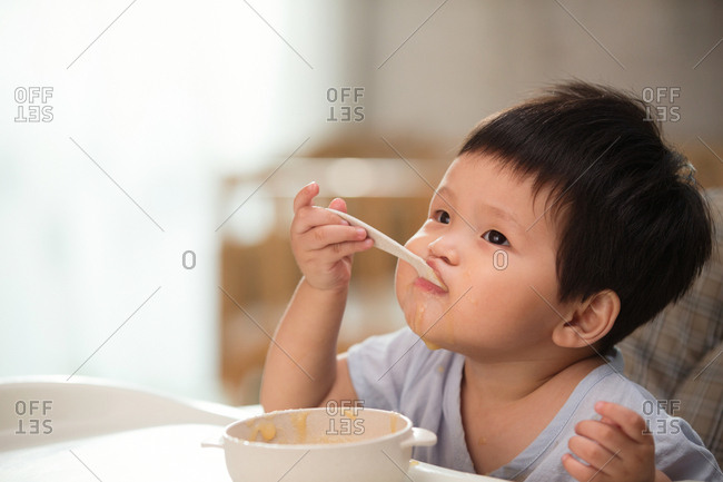 The baby to eat - Offset