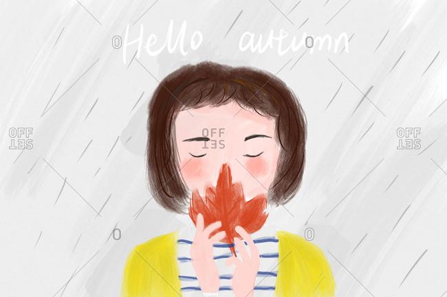 Autumn creative illustrations